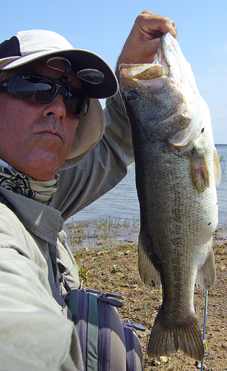 Ray Roberts Largemouth Bass Selfie