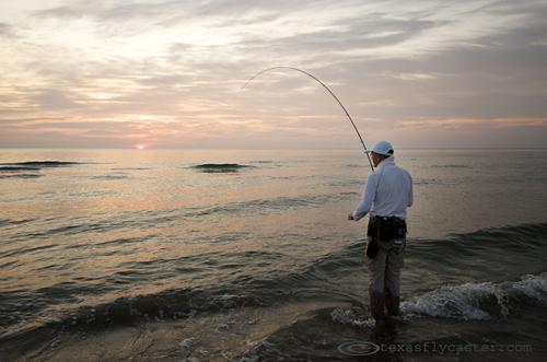 Catching fish along the Padre Island Seashore