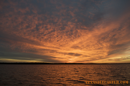 Sunset on Lake Texoma, Texas.