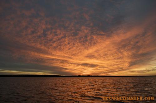 Sunset on Lake Texoma, Texas.