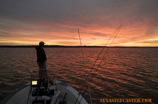 Nothing to do but watch the sunset on Texoma.
