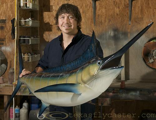 Josh Kelly with marlin