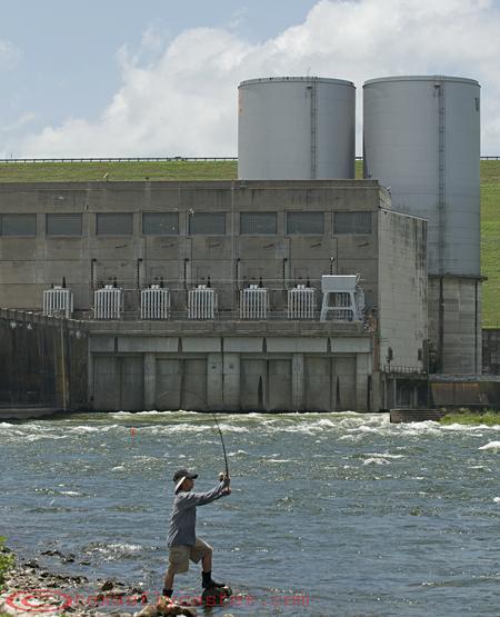 Fishing Denison Dam