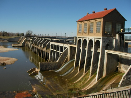 Overholser lake Dam Oklahoma City