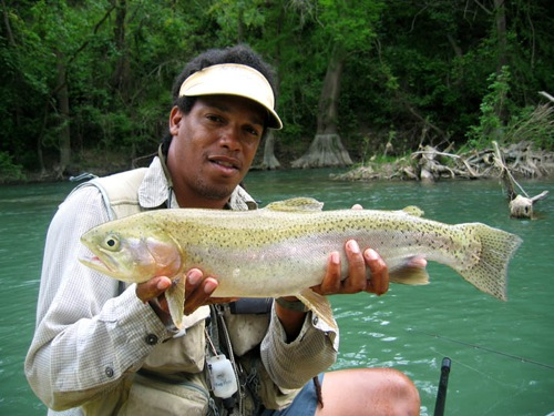 Alvin Dedeaux on the Guadalupe River Texas.