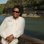 Alvin Dedeaux on the Guadalupe River, Texas.