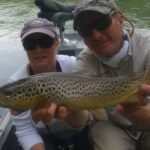 Fly Fishing in Arkansas for Brown Trout courtesy Blue Ribbon Fly Shop