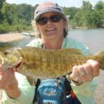Lori Sloas and a Crooked Creek smallie