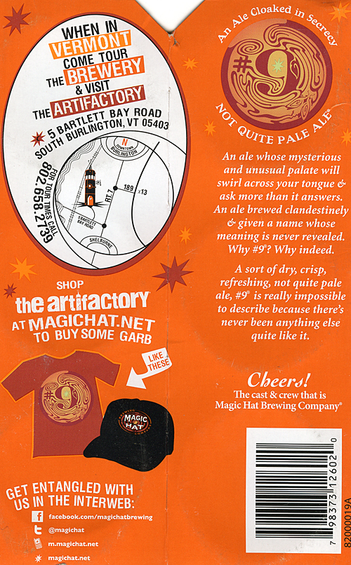 Magic Hat #9 Label on Six Sleeve