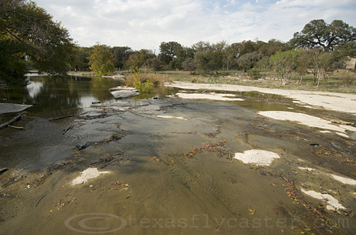 Brushy Creek, Round Rock, Texas in drought 2011.