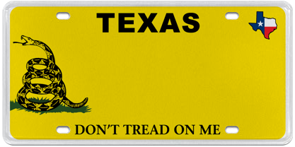 New Texas License Plate Option