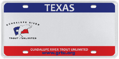 GRTU Guadalupe River Trout Unlimited License Plate