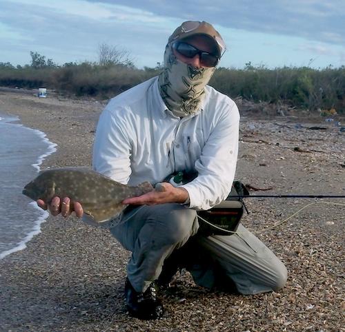 Black Friday Flounder on Fly - Galveston Texas