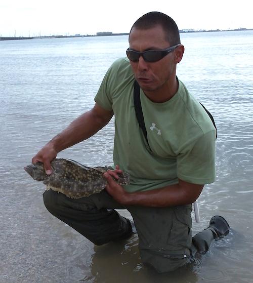 Southern Flounder Face