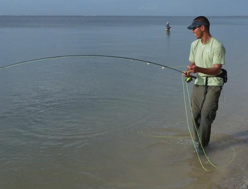 Flounder on a Fly Rod - Galveston Texas