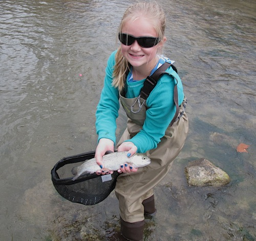 Blue River Oklahoma fly fishing for rainbow trout
