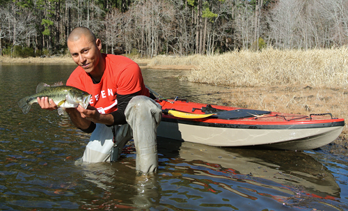 Daingerfield waterbody record for largemouth bass caught by guest Immanuel Salas