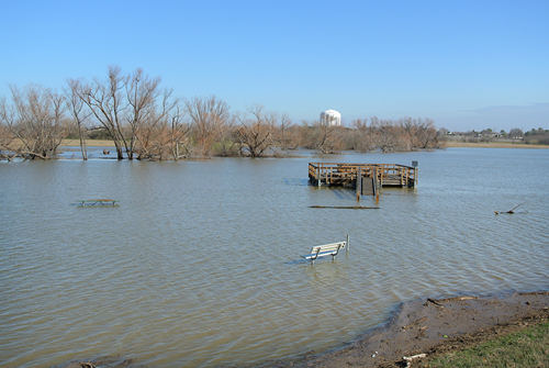 Flooding at Northlakes Park in Denton, Texas 2012
