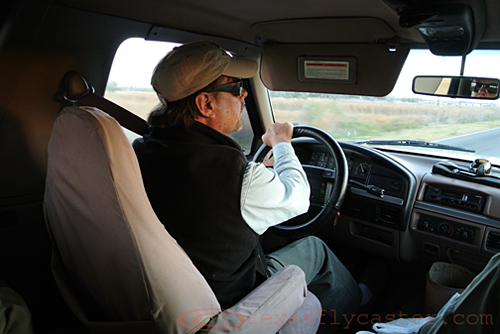 Captain John Iverson at the Wheel of his 1990 Ford Bronco