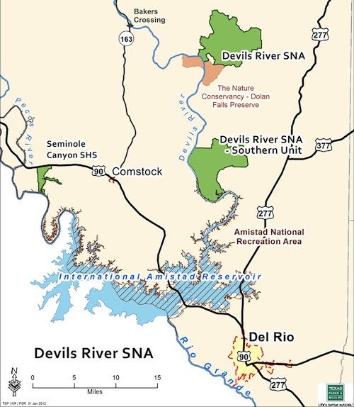 New Devils River Map