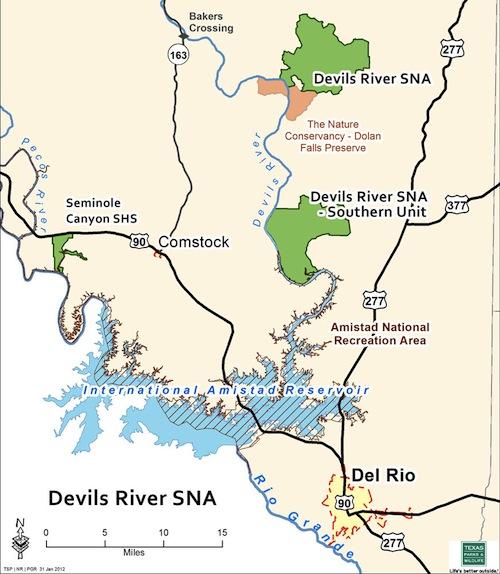 New Devils River Map