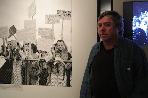 Jerry in front of his photograph in the Sixth Floor Museum in Dallas, Texas.