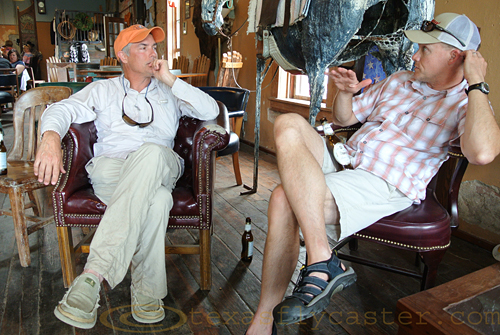 Joel Hays and I talk at Lowbrau in Pilot Point, Texas.