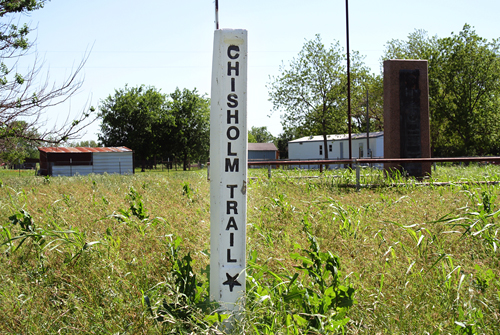Near the north Texas end of the Chisholm Trail in Spanish Fort, Texas.
