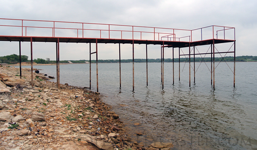 Crownover pier at Lake Nocona Texas
