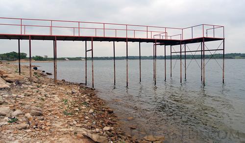 Crownover pier at Lake Nocona Texas