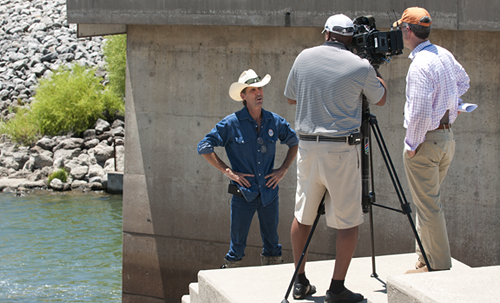 Interview at the Ray Roberts release into the Elm Fork of the Trinity River.
