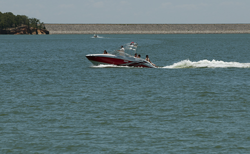 Boaters on Lake Ray Roberts which tested positive for zebra mussels.