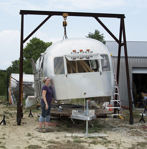 Airstream Full Monty in progress