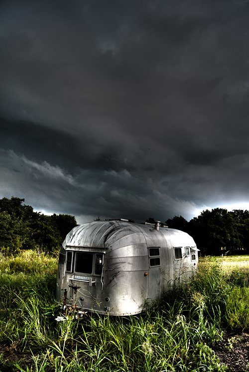 Airstream Trailer in Field