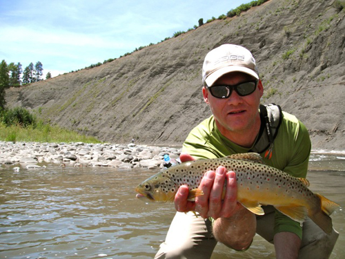 Colorado brown trout caught on the moon - Photo Courtesy Joel Hays