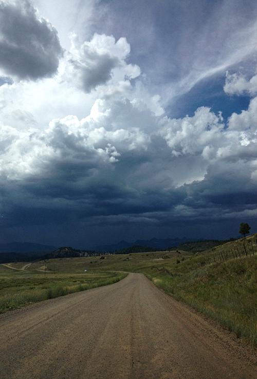 Colorado monsoon on the horizon - Photo Courtesy Joel Hays