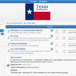 Texas Fly Reports Discussion Boards being Rebuilt Refreshed