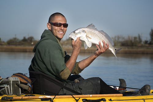 StuntmanSalas and first redfish on fly