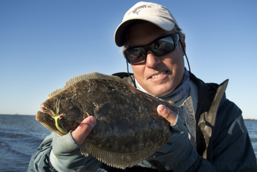 Galveston Flounder on Fly Rod 2012