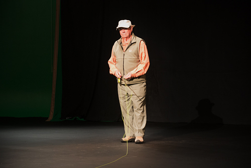 Lefty Kreh in video shoot February 2013