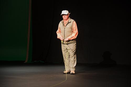 Lefty Kreh in video shoot February 2013