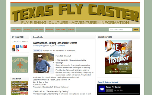 New Texas Fly Caster site design