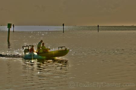 Islamorada Florada flats boat going out