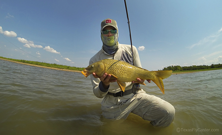 Carp on the Fly GoPro Shot