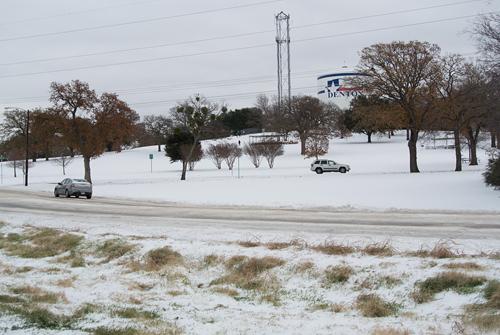 December 2013 ice event Denton Texas