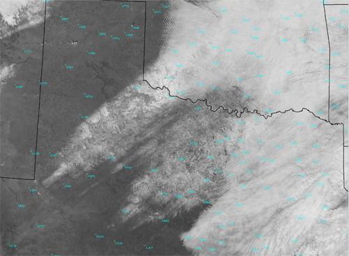 Frozen Texas Ground Precip from Satellite