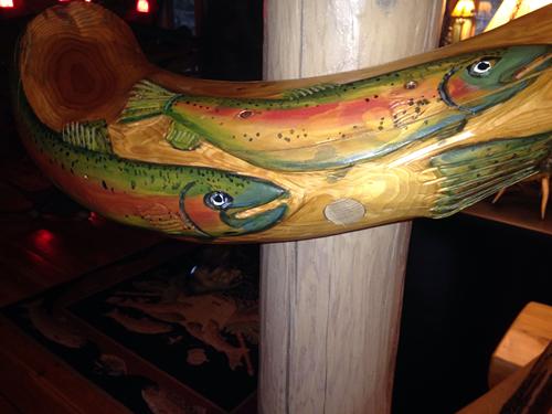 carved fish railing courtesy Joyce Davis