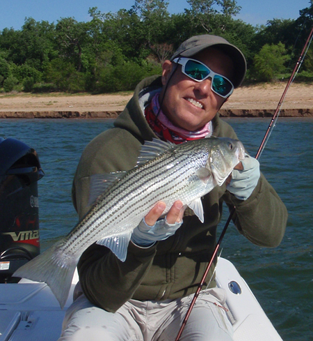 #texasflyfishing fly fishing for texoma striper