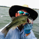 ray roberts largemouth bass on fly texas fly fishing