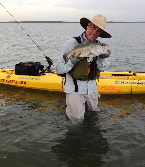 big lake bass on fly rod